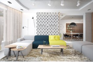 MODERN APARTMENT WITH CHEERFUL COLORS